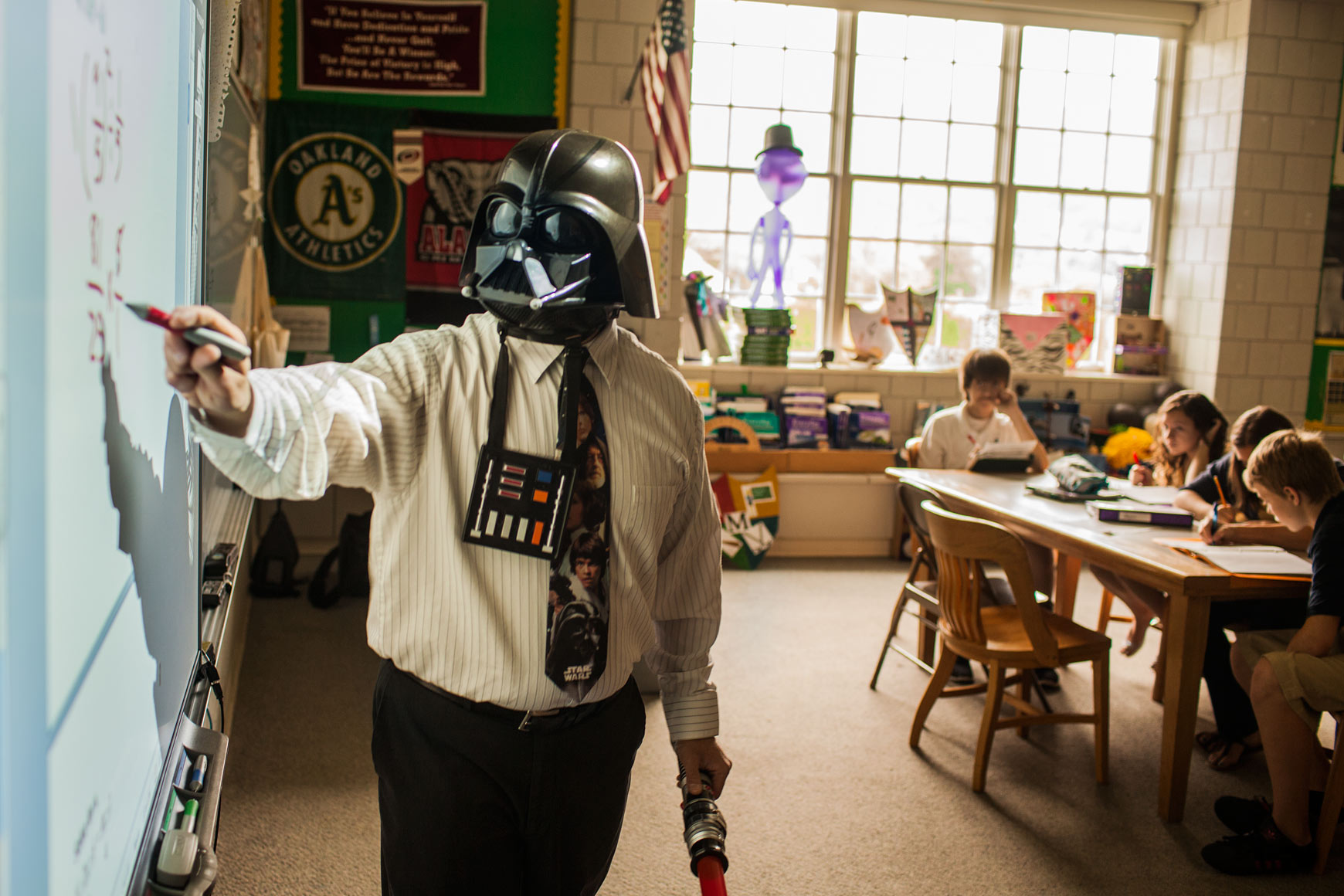 darth vader teaches math to middle school students